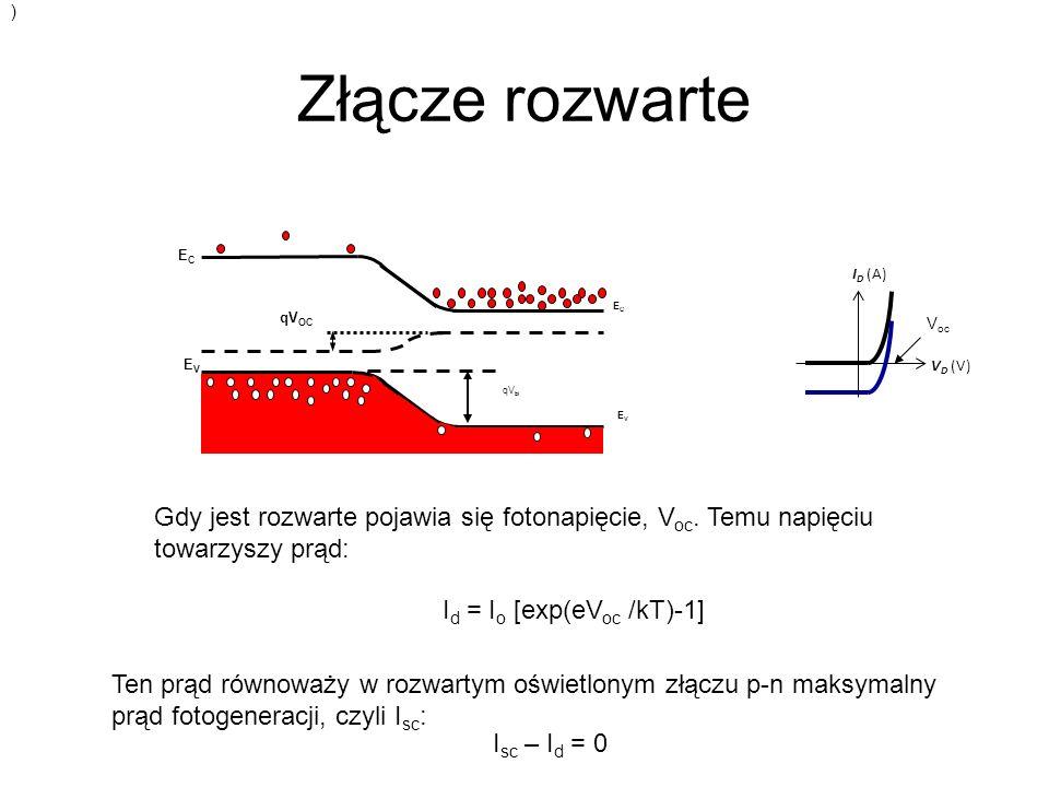 Id = Io [exp(eVoc /kT)-1]